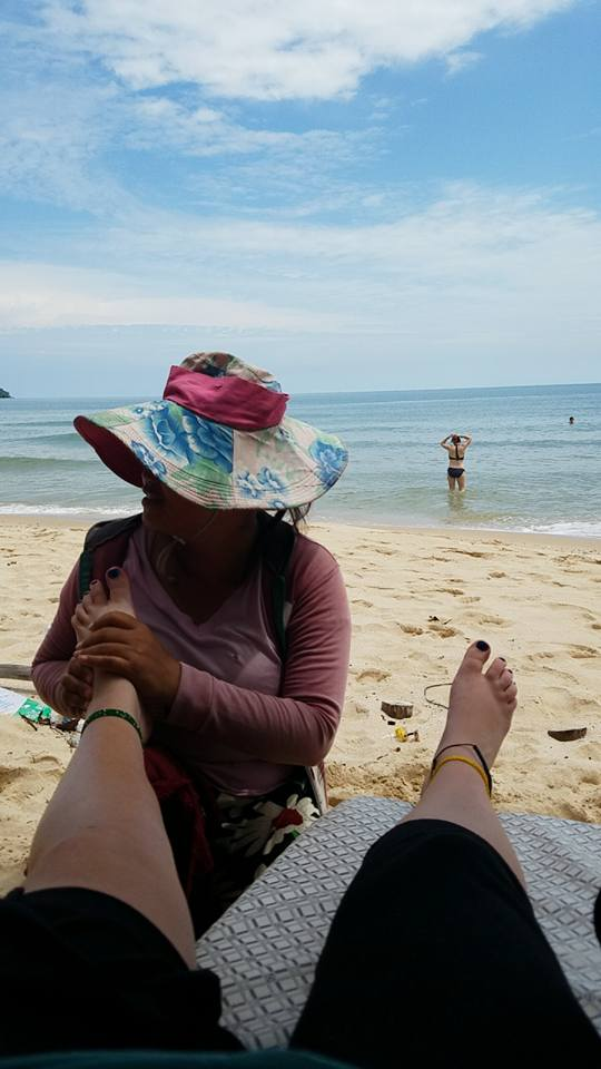 Busabout Cambodian Adventure Free time beach foot massage