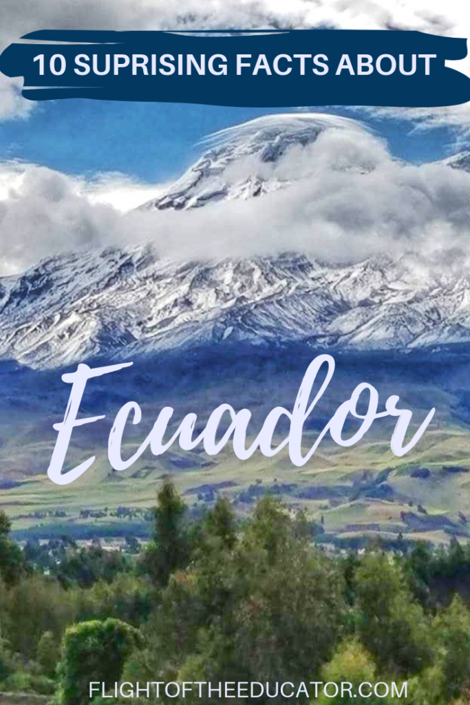 Ecuador is most famous for being on the equator, but there are a lot more interesting facts about it including Darwin, Galapagos, and more! Read to find out!