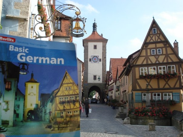 Started teaching myself German before I got there, and the cover of my book was RIGHT outside my hotel!!