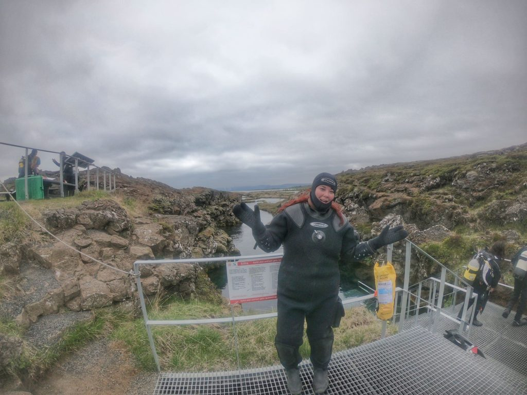 dry suit iceland snorkel tectonic plates