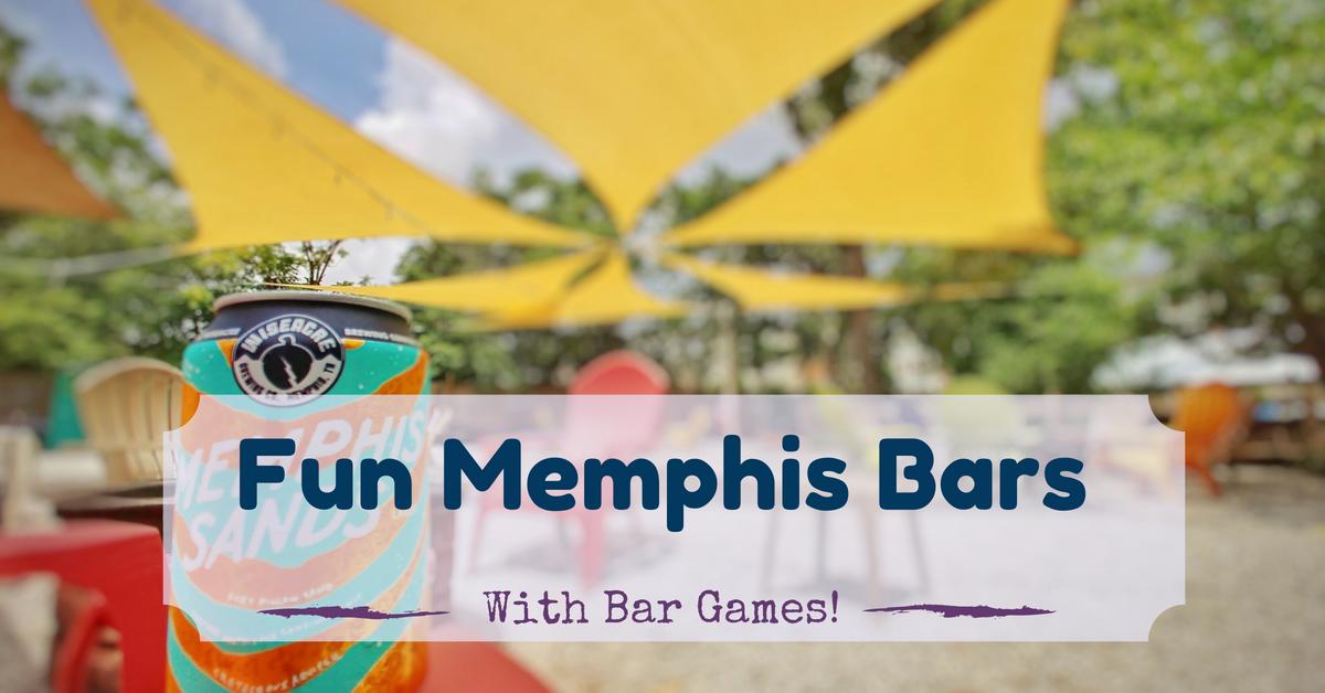 Fun memphis bars with bar games