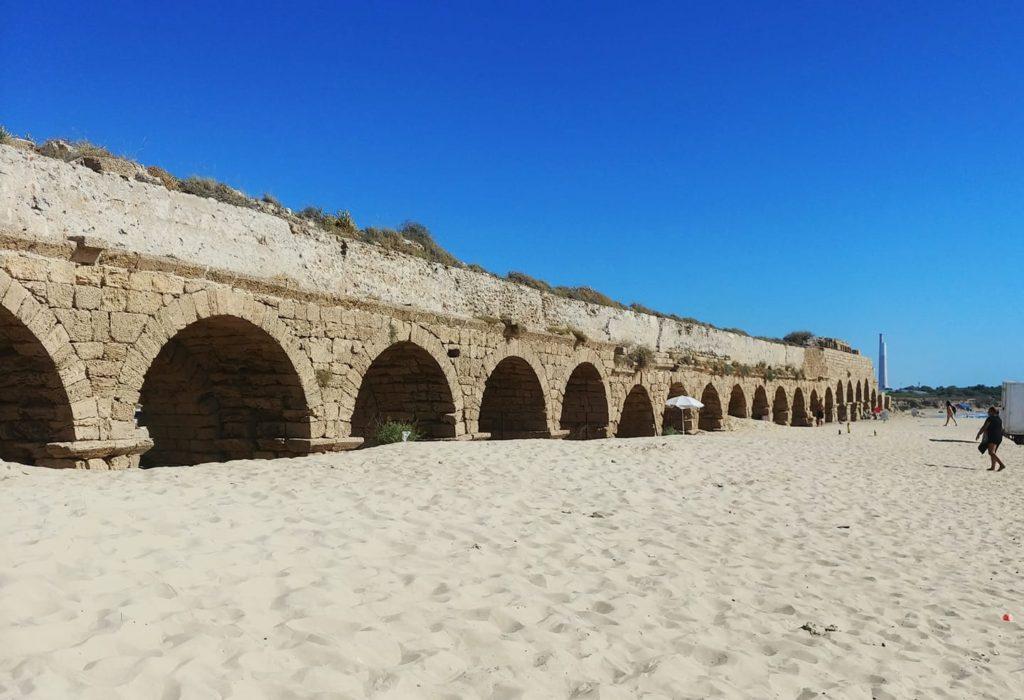 Caesura Aqueduct beach israel