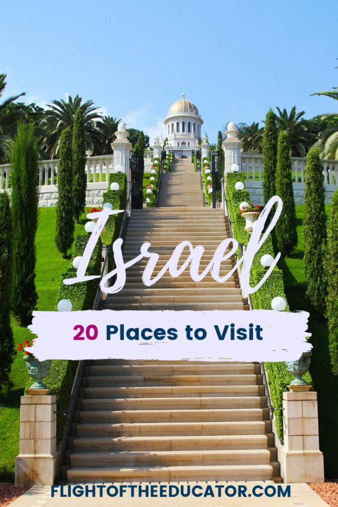 Is Israel on your bucket list? You have come to the right place! Check out this list of 20 places that you will want to add to your food and travel itinerary. It includes Jerusalem and Tel Aviv, but also so much more! Plan your trip today and then you can figure out what to wear! #israel #middleeasttravel #israeltrip