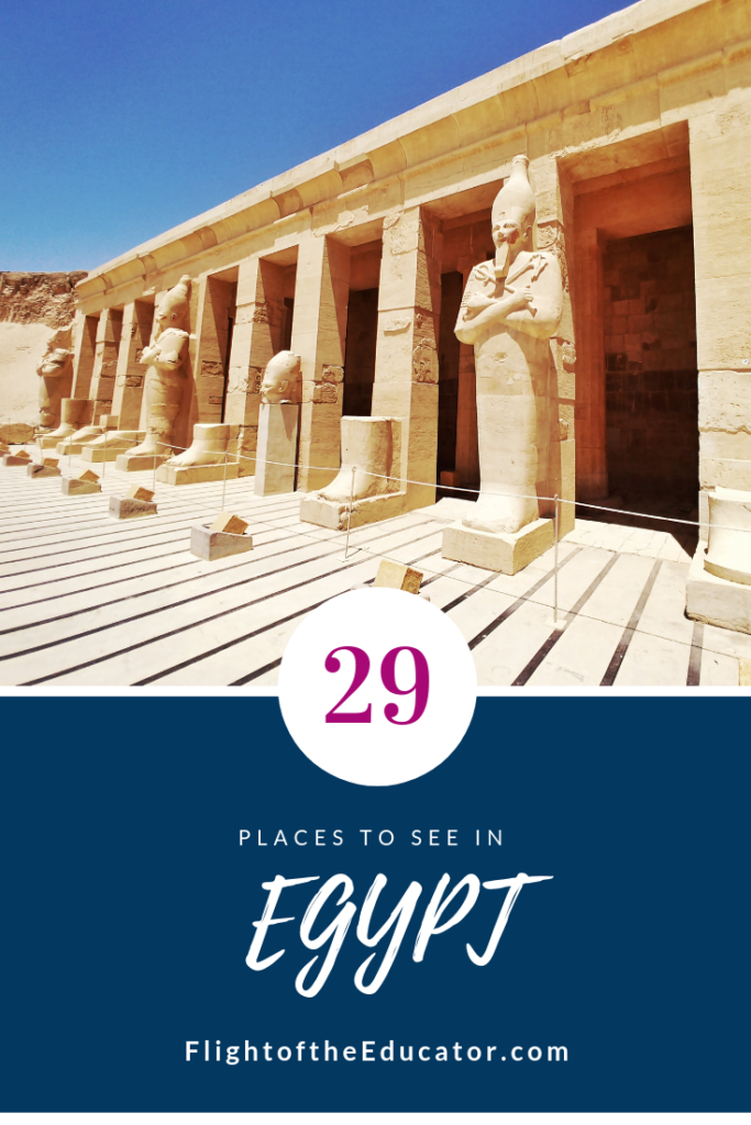 Planning on going to Egypt? Well of course you need to see the pyramids, it's on almost everyone's bucket list! But did you know that Egypt has way more to see! Check out this list of 29 places to see in Egypt besides the Pyramids!