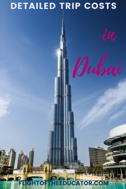 Going to Dubai in the Middle East? Wondering how much money to bring to this exotic and luxurious city? Read about my actual trip costs on my trip to better help you plan yours! #TripBudget #Dubai# UAE