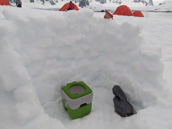 bathroom on antarctica