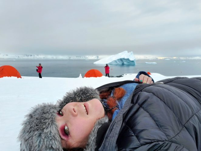 resting when camping in antarctica