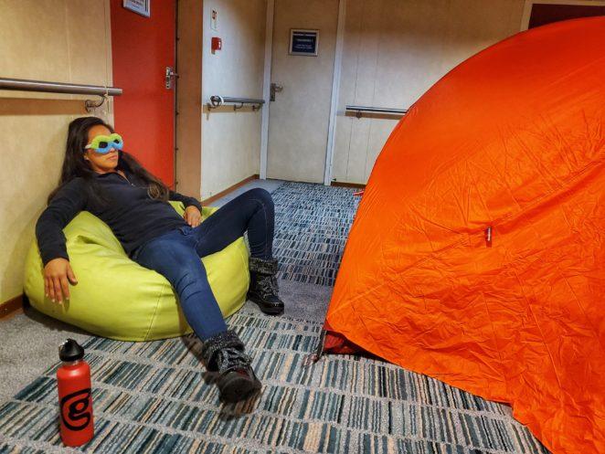 practice camping in antarctica