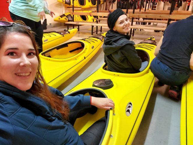 kayaking antarctica trying out kayaks