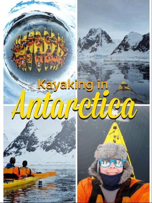 Everything you need to know about kayaking in Antarctica, what it's like, and what to bring! Read about the adventures and seeing wildlife. #antarctica #kayaking #antarctickayaking #Gadventures #Antarctic