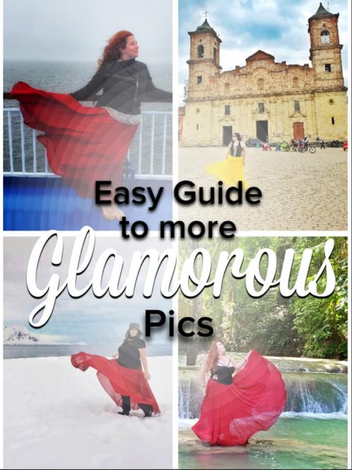 "Have you seen those beautiful travel pictures of glamorous women in flowing dresses on Instagram and wished you could do something like that, but you just aren't ""That kind of girl?"" Well, here are some easy tips and tricks to taking your own glamorous IG pics even if you aren't a tiny model or an expert photographer. This is the normal girl's guide to Instagram pics! #Photography #photographytips #DoitfortheGram #Forthegram #instagram #beautifulpictures #travelpics"
